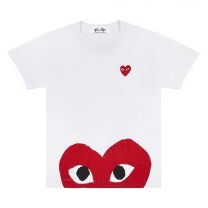 NWT Comme des Garçons Play Red Half Heart T-Shirt